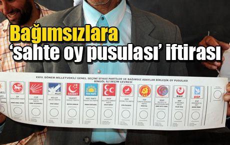 Bağımsızlara 'sahte oy pusulası' iftirası