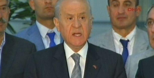 Bahçeli: Erdoğan şike ve hileyle Çankaya'ya çıktı