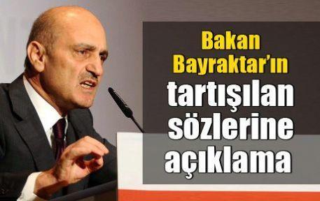 Bakan Bayraktar'ın tartışılan sözlerine açıklama