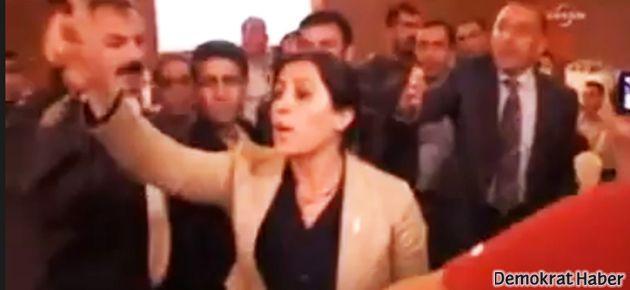 Bakan 'terör' deyince BDP'liler salonu terk etti
