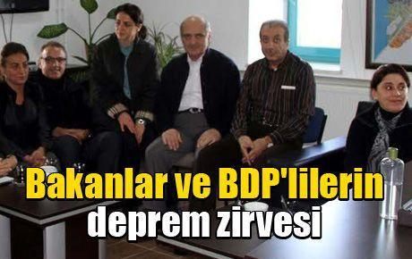 Bakanlar ve BDP'lilerin deprem zirvesi