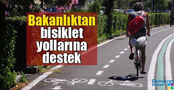 Bakanlıktan bisiklet yollarına destek