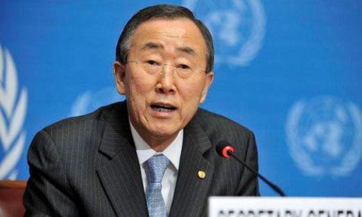 Ban Ki-moon Suriye'ye giden silahlara ambargo istedi