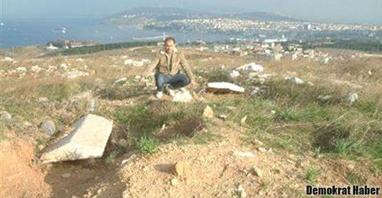 Bandırma'daki Roma mezarlığı talan edildi