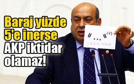 Baraj yüzde 5'e inerse AKP iktidar olamaz