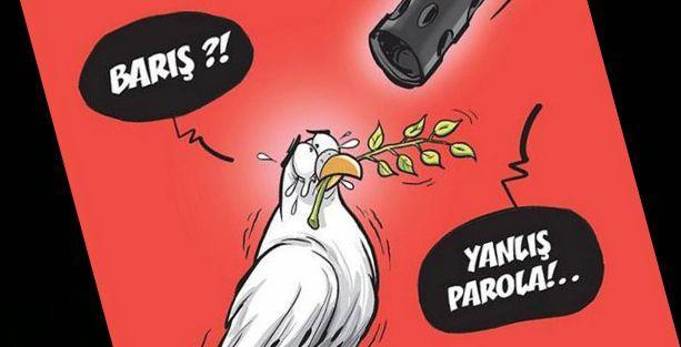 'Barış'a çekilen silah Gırgır'ın kapağında