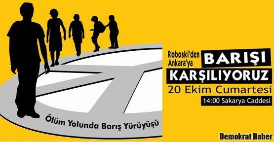 Barışa yürüyenler Sakarya Meydanı'nda karşılanacak