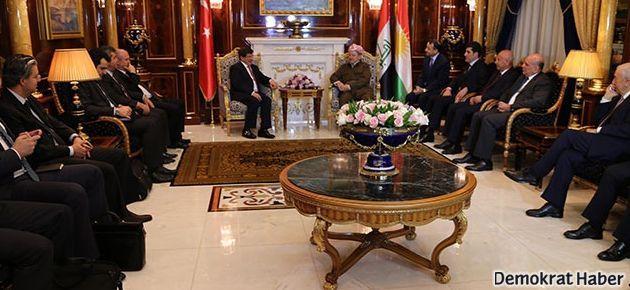 Barzani ve Davutoğlu görüştü