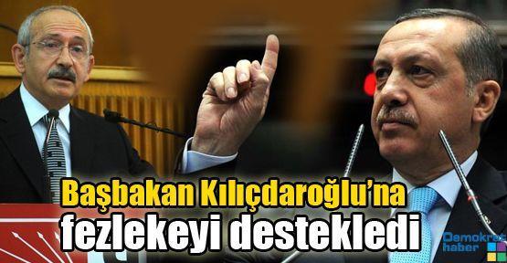 Başbakan Kılıçdaroğlu'na fezlekeyi destekledi