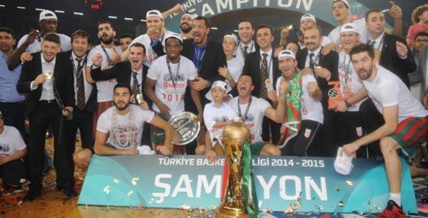 Basketbol Ligi'nde şampiyon Karşıyaka