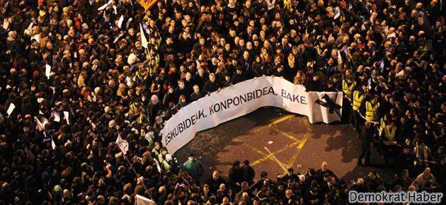 Basklılar ETA'lı tutuklular için tek yürek oldu