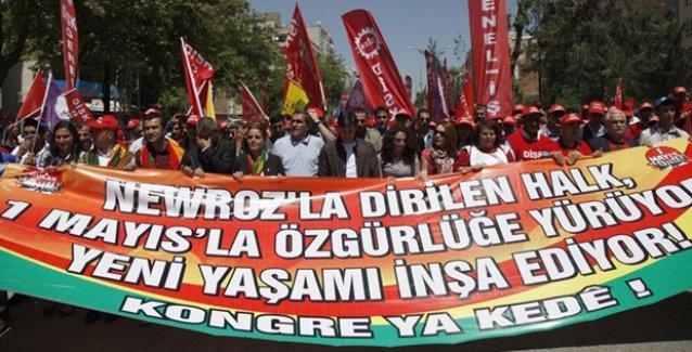 Batman'da 1 Mayıs 'Newroz ruhuyla' kutlandı: Taksim'le Batman'ı ayıramayacaksınız!