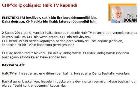 Baykal-Kılıçdaroğlu kavgası kanal kapattırdı!