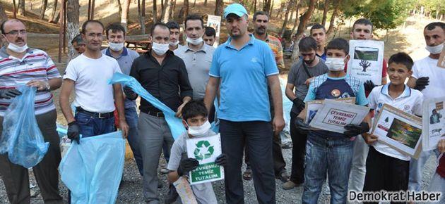 Baykan'da gönüllü temizlik