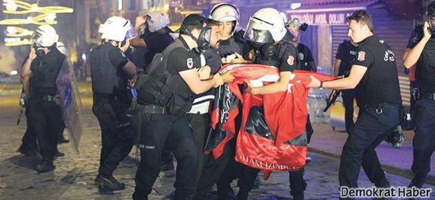 Bayrak satan Sarıçiçek 'isyana teşvik'ten tutuklandı
