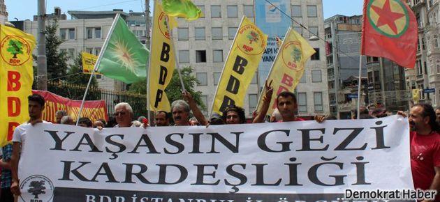 BDP 'Gezi direnişi' için Taksim'de yürüdü
