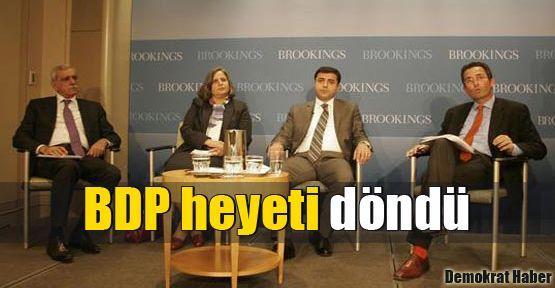 BDP heyeti döndü