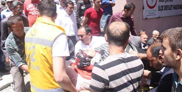 BDP konvoyunda kaza: 6 yaralı