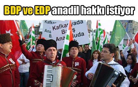 BDP ve EDP anadil hakkı istiyor