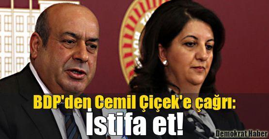 BDP'den Cemil Çiçek'e çağrı: İstifa et!