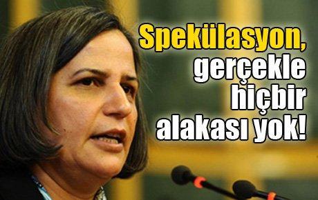 BDP'li Kışanak: Spekülasyon, gerçekle hiçbir alakası yok!
