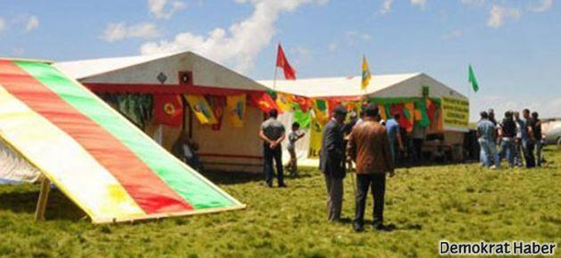 BDP'nin çadırı TOMA ile yıkıldı