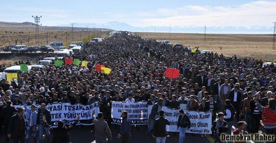 BDP'nin 'direniş eylemi'ne geniş katılım oldu