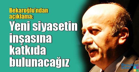 Mehmet Bekaroğlu'ndan istifalara açıklama