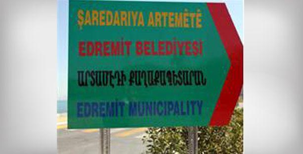 Belediye'den Van'a Ermenice tabela