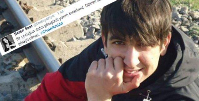 Beren Saat'ten Civan Aslan tweet'i: Bir çocuğun daha gülüşünü yarım bıraktınız!