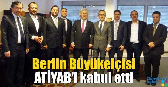 Berlin Büyükelçisi ATİYAB'ı kabul etti