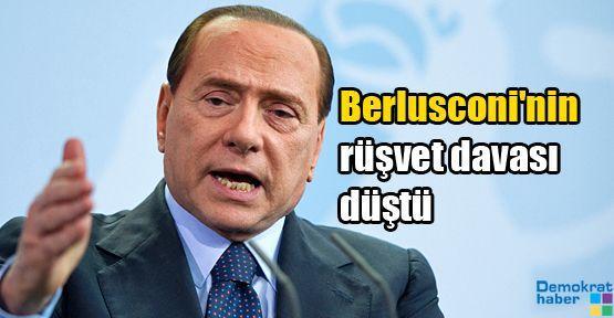 Berlusconi'nin rüşvet davası düştü
