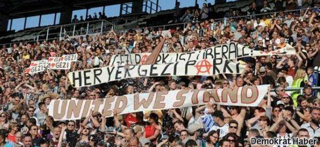 Beşiktaş-St. Pauli maçında 'Gezi' protestosu
