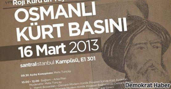 Bilgi'de 'Osmanlı Kürt Basını' konferansı yapılacak