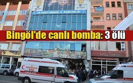 Bingöl'de canlı bomba: 3 ölü