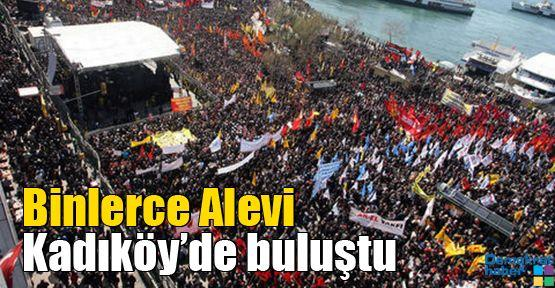 Binlerce Alevi Kadıköy'de buluştu