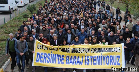 Binlerce kişi 'Dersim'de baraj istemiyoruz' dedi