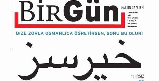 BirGün'ün Osmanlıca 'Hırsız' manşetine soruşturma