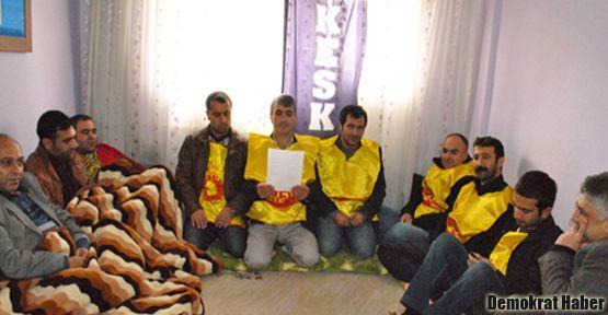 Bitlis KESK destek açlık grevinde