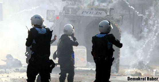 Bitlis'teki yürüyüş engellendi, olaylar çıktı
