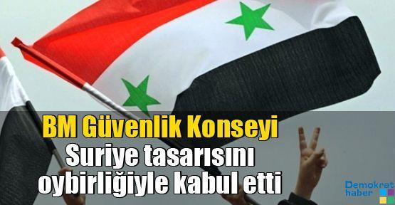 BM Güvenlik Konseyi Suriye tasarısını oybirliğiyle kabul etti
