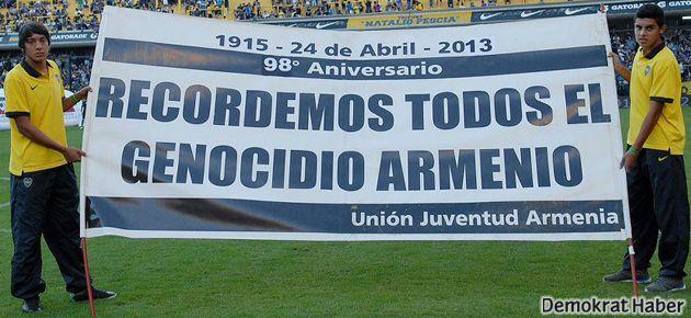 Boca Juniors Ermeni Soykırımını andı
