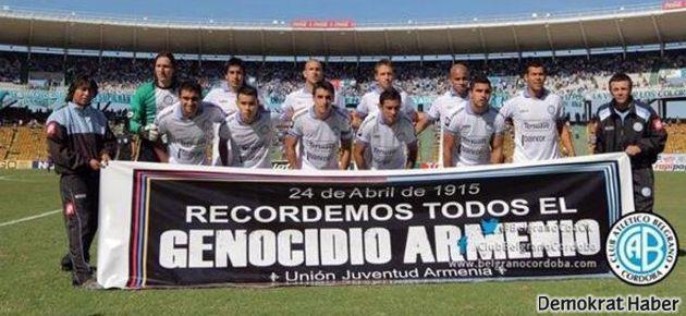Boca Juniors maçında 'Ermeni soykırımı' pankartı