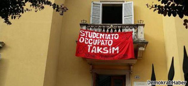 Bologna'daki işgalde 'Taksim' adı