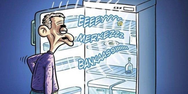 Boş buzdolabından Erdoğan'ın sesi yankılanıyor: 'Eyy Merkez Bankaasıı!'