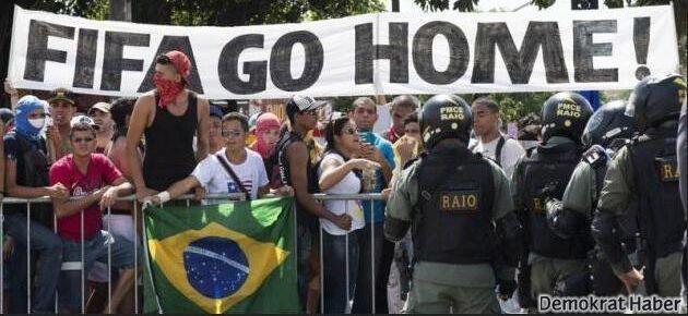 Brezilya'da Dünya Kupası protestoları sürüyor