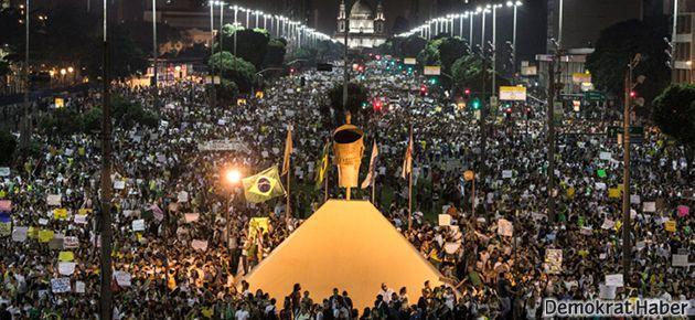 Brezilya'da eylemlere bir milyon kişi katıldı