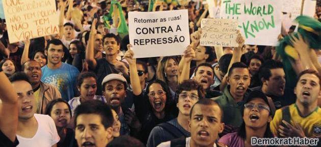 Brezilya'da on binler greve gitti