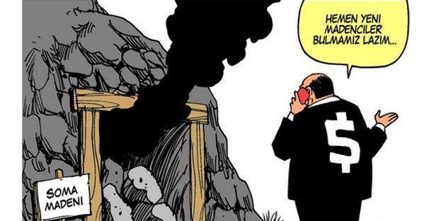 Brezilyalı karikatürist bu kez de Soma'yı çizdi