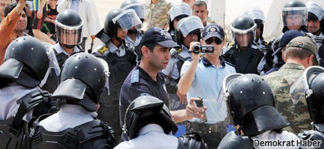 Çadırkentlerde görevli güvenlikçilere 'gaz' eğitimi